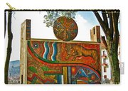 Art In A Cusco Park-peru  Carry-all Pouch