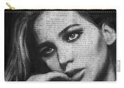 Art In The News 36- Jennifer Lawrence Carry-all Pouch