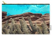 Art No 1901 American Landscape Cactus Stone Mountains And Skyview By Navinjoshi Artist Toronto Canad Carry-all Pouch