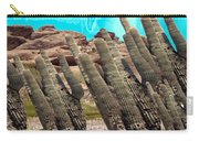 Art No.1900 American Landscape Cactus Stone Mountains And Skyview By Navinjoshi Artist Toronto Canad Carry-all Pouch