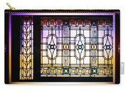 Art-nouveau Stained Glass Window Carry-all Pouch