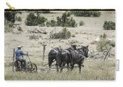 Art Of Horse Plowing Carry-all Pouch