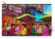 Art Of Montreal Enjoying A Pint At Ye Olde Orchard Irish Pub And Grill Monkland Village Cafe Scenes Carry-all Pouch