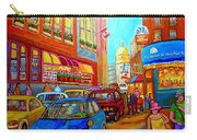 Art Of Montreal Summer Street Scenes Of Quebec With Caleche Near Cafes On Cobblestones Old Montreal Carry-all Pouch