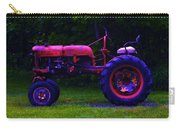 Artful Tractor In Purples Carry-all Pouch