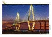 Arthur Ravenel Bridge At Evening  Carry-all Pouch
