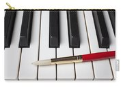 Artist Brush On Piano Keys Carry-all Pouch