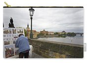 Artist On The Charles Bridge - Prague Carry-all Pouch