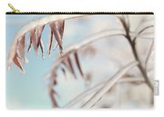 Artistic Abstract Closeup Of Frozen Tree Branches Carry-all Pouch