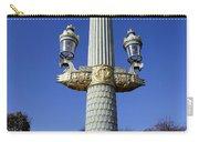 Artistic Lamp Post At The Place De La Concorde In Paris France Carry-all Pouch