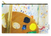 Artists Easel And Splatter Carry-all Pouch