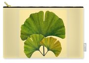 Arts And Crafts Movement Ginko Leaves Carry-all Pouch