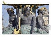 Artwork On The Public Fountains At Place De La Concorde In Paris France Carry-all Pouch