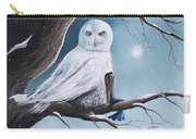 White Snow Owl Painting Carry-all Pouch