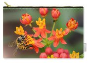 Asclepias Curassavica And Bee Carry-all Pouch