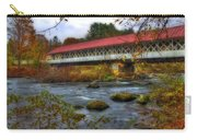 Ashuelot Covered Bridge 2 Carry-all Pouch by Joann Vitali