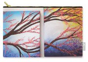 Asian Bloom Triptych 2 3 Carry-all Pouch