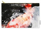 Asian Koi Fish - Black White And Red Carry-all Pouch