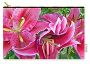 Asian Lily Flowers Carry-all Pouch