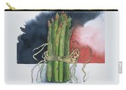Asparagus In Raffia Carry-all Pouch