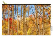 Aspen Fall Foliage Portrait Red Gold And Yellow  Carry-all Pouch