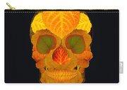 Aspen Leaf Skull 2 Black Carry-all Pouch