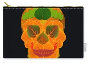 Aspen Leaf Skull 3 Black Carry-all Pouch