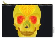 Aspen Leaf Skull 4 Black Carry-all Pouch