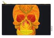Aspen Leaf Skull 6 Black Carry-all Pouch