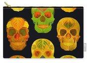 Aspen Leaf Skulls Poster 2014 Black Carry-all Pouch