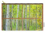 Aspen Tree Forest Autumn Picture Window Frame View  Carry-all Pouch