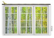 Aspen Tree Forest Autumn Time White Window View  Carry-all Pouch by James BO  Insogna