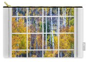 Aspen Tree Magic Cottonwood Pass White Window Portrait View Carry-all Pouch by James BO  Insogna
