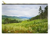 Aspen Trees And Wildflowers Carry-all Pouch