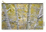 Aspen Trees Covered With Snow Carry-all Pouch