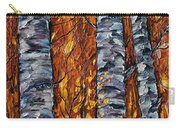 White Trees  Original Oil Painting  Carry-all Pouch
