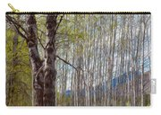 Aspen Trees Proudly Standing Carry-all Pouch by Omaste Witkowski