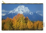 Aspens Fall Mount Moran Grand Tetons National Park Wyoming Carry-all Pouch