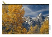 1m9352-aspens In Autumn And The Teton Range Carry-all Pouch