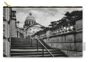 Aspirations In Black And White Carry-all Pouch