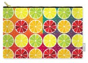Assorted Citrus Pattern Carry-all Pouch