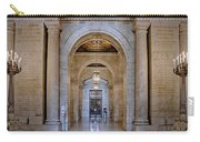 Astor Hall New York Public Library Carry-all Pouch by Susan Candelario
