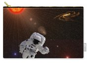 Astronaut And Sun With Stars Carry-all Pouch