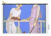 At Polo Carry-all Pouch by Georges Barbier