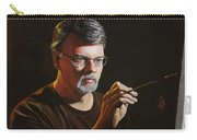 At The Easel Self Portrait Carry-all Pouch