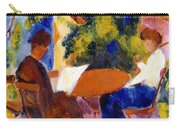 At The Garden Table Carry-all Pouch by August Macke