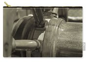At The Helm Black And White Sepia Carry-all Pouch