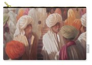 At The Temple Entrance, 2012 Acrylic On Canvas Carry-all Pouch