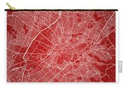 Athens Street Map - Athens Greece Road Map Art On Color Carry-all Pouch