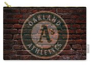 Athletics Baseball Graffiti On Brick  Carry-all Pouch